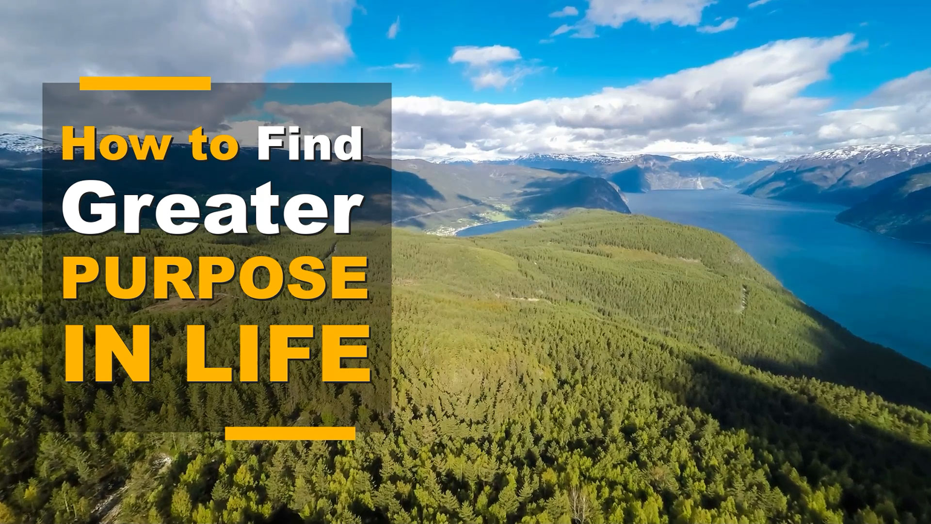 How to Find Greater Purpose in Life