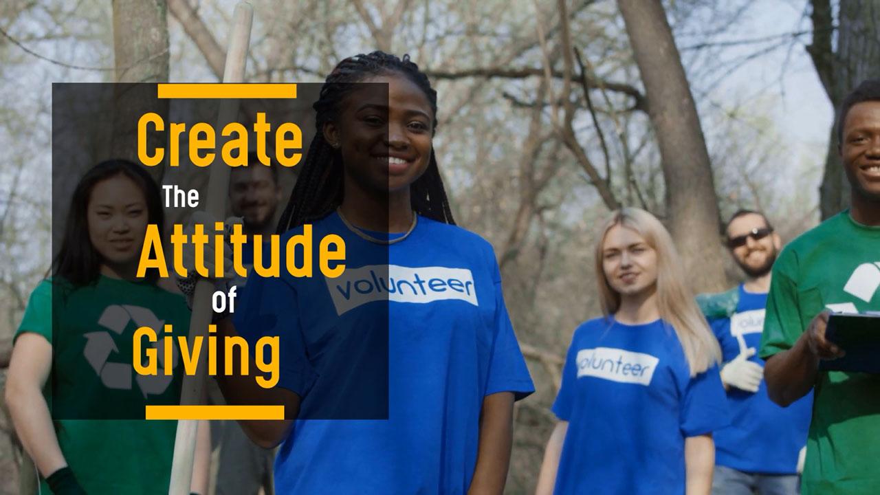 Create the Attitude of Giving