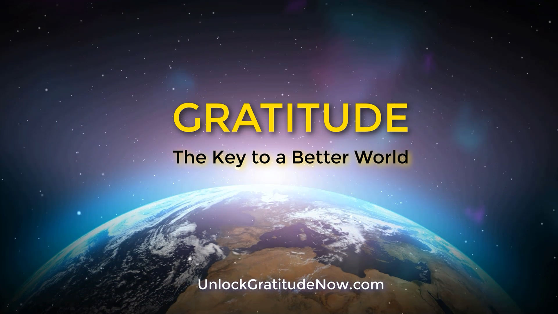 GRATITUDE is the key to a better world