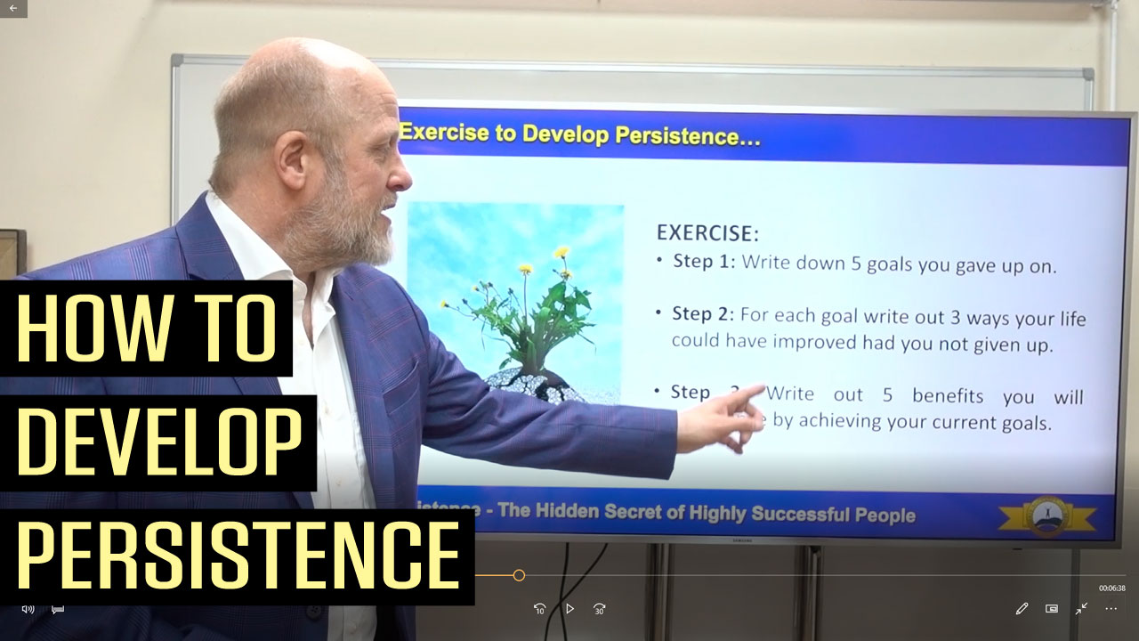 Persistence - The Hidden Secret of Highly Successful People